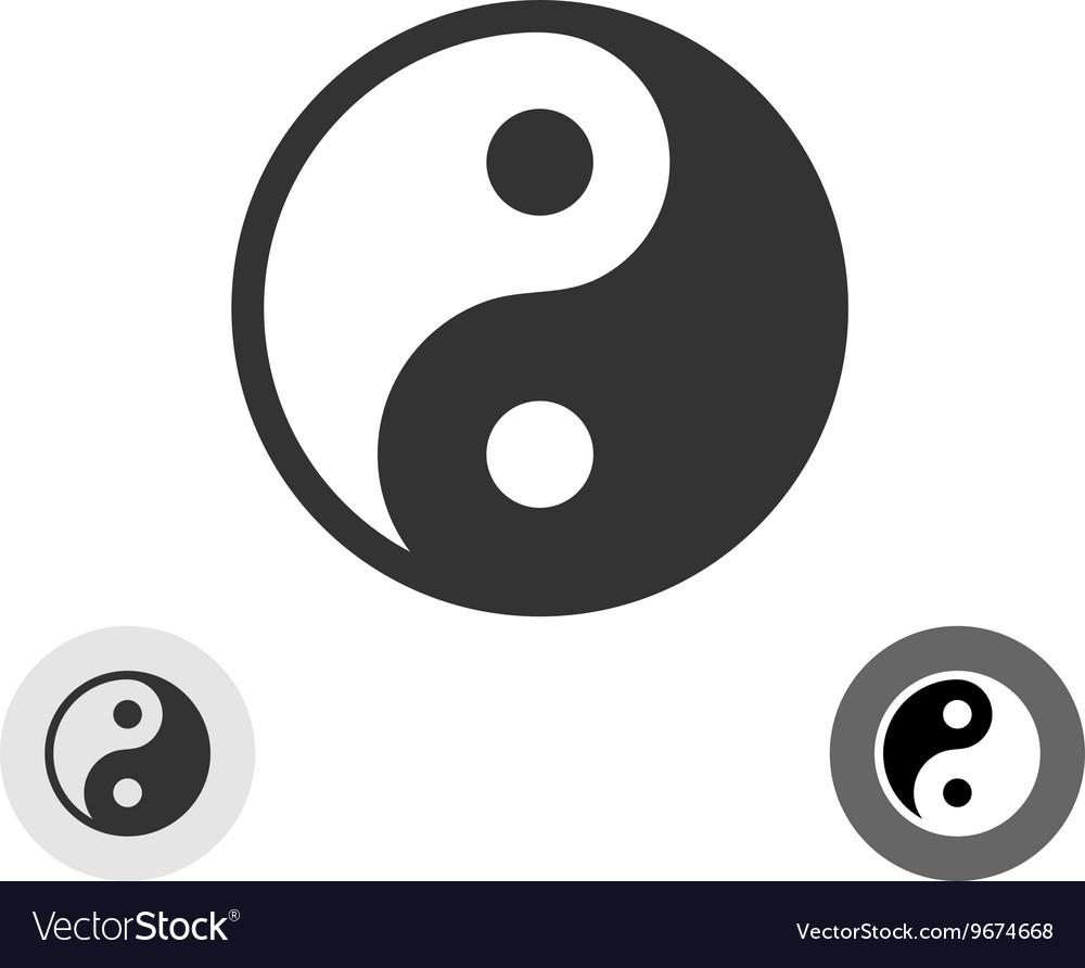 Yin yang black round logo japan symbol royalty free vector yin yang black round logo japan symbol vector image biocorpaavc Images