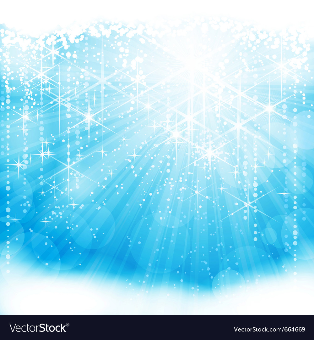 Light blue christmas winter background vector image