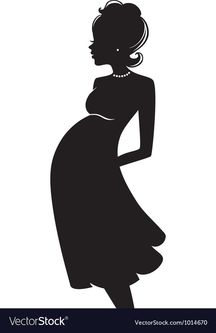 Pregnant vector image