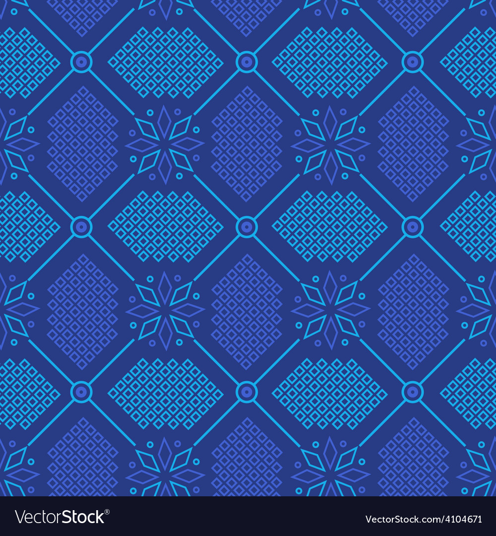 Abstract seamless ornament pattern vector image
