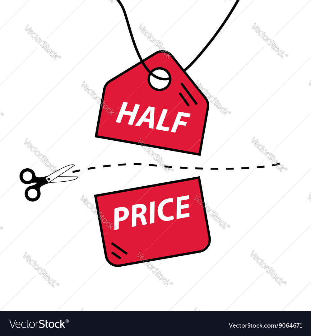 Half price cut vector image