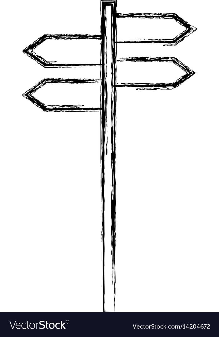 Arrows signal guide icon vector image