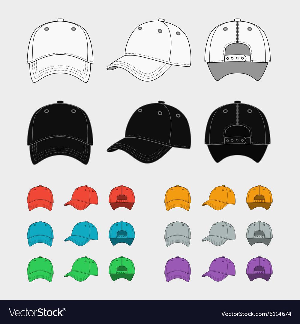 Baseball cap template vector image