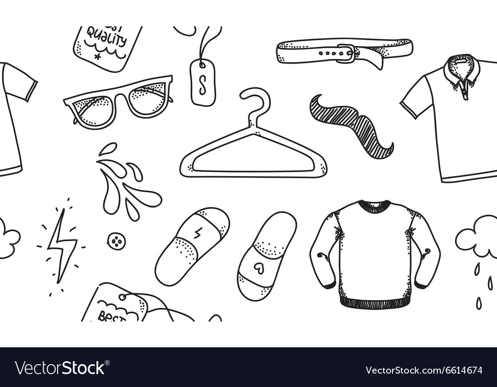 Clothing seamless texture Background for store vector image