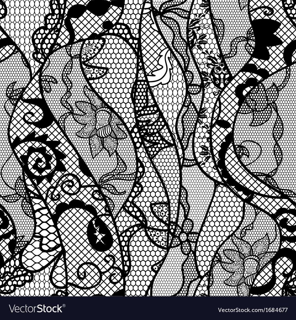 black lace pattern vector www