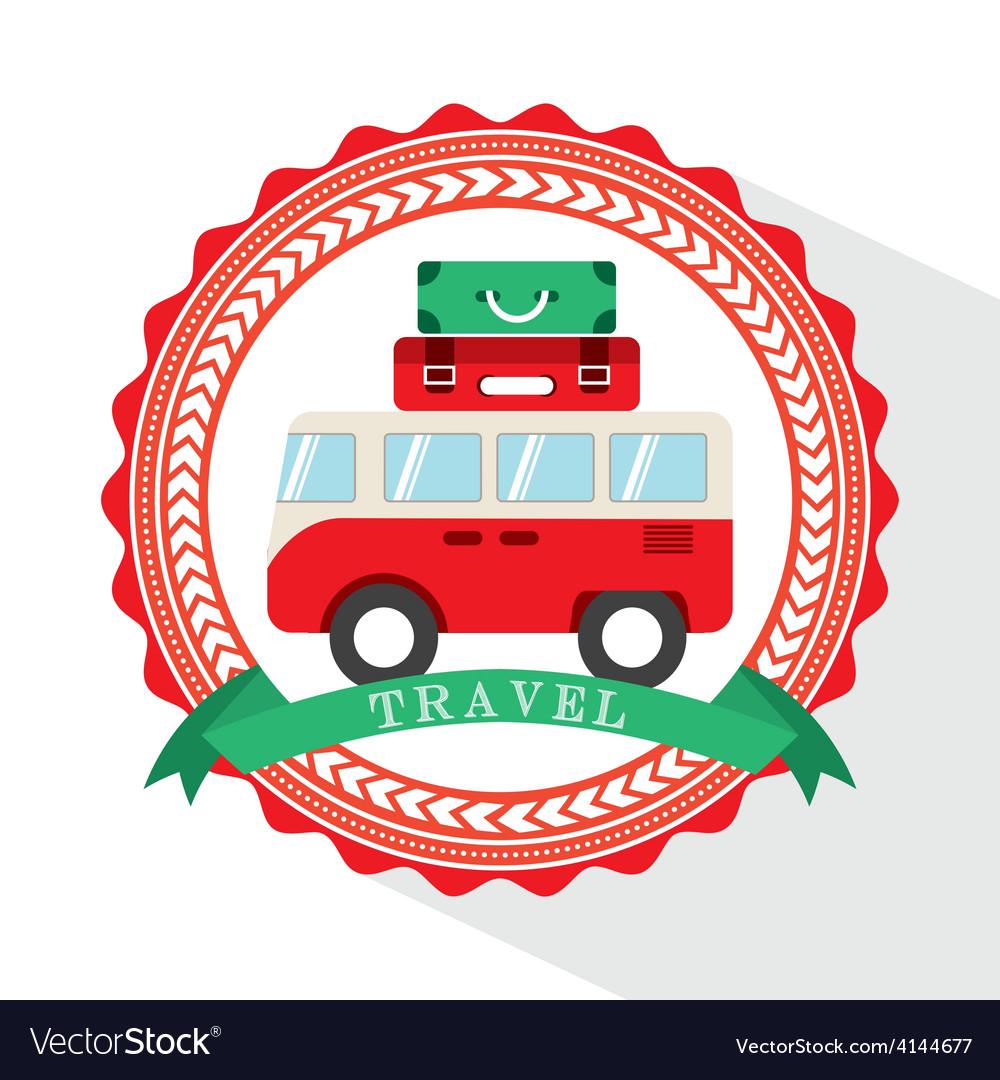 Van travel vector image