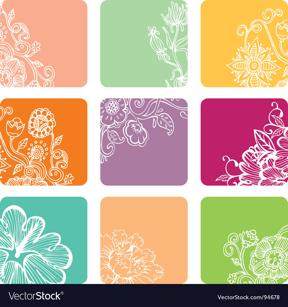 Nine color vector image
