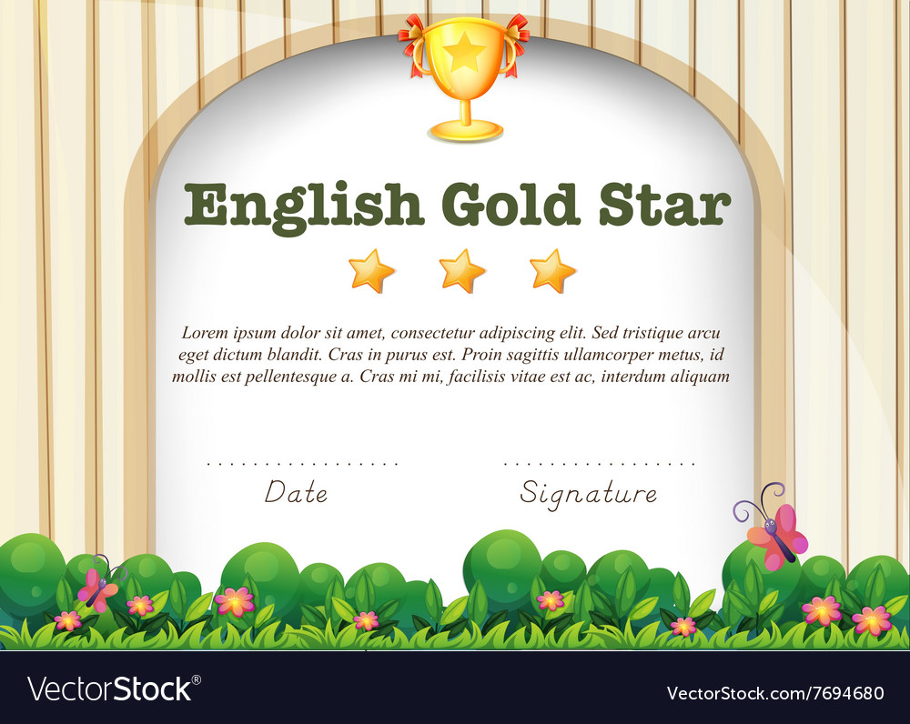 Certification template for english subject vector image certification template for english subject vector image alramifo Images