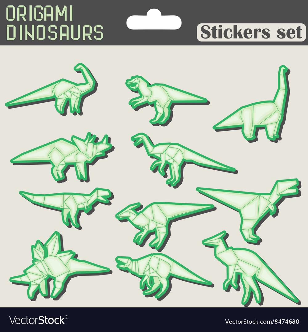 Origami dinosaur vector images 40 jeuxipadfo Choice Image