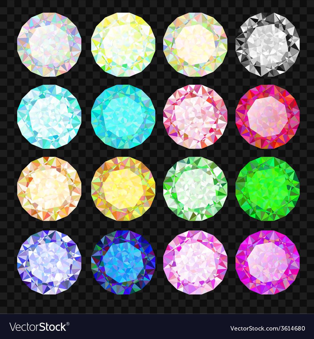 Set of gems Diamond set vector image
