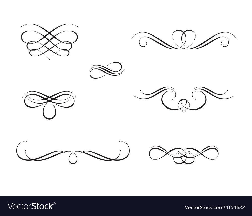 Calligraphy swirls royalty free vector image vectorstock