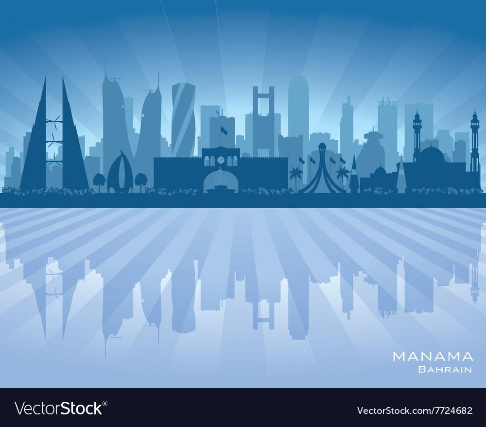 Manama Bahrain City Skyline Silhouette Royalty Free Vector