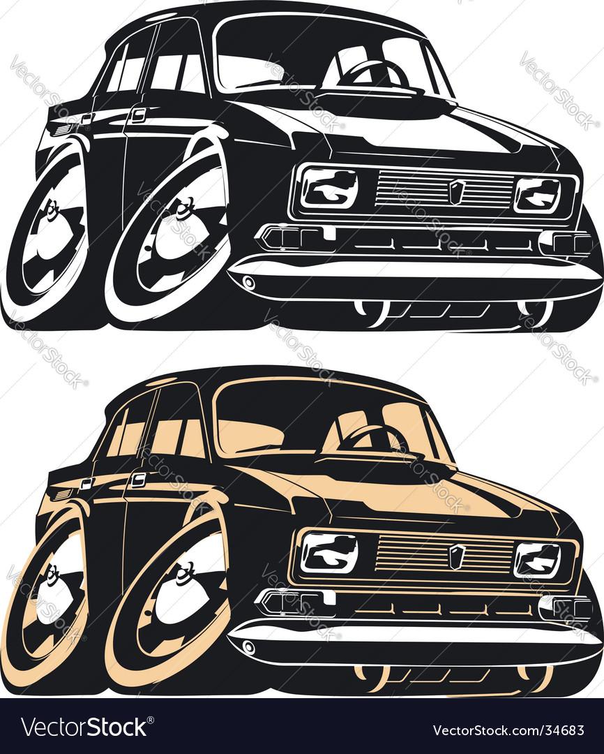 Cartoon Muscle Car Royalty Free Vector Image Vectorstock