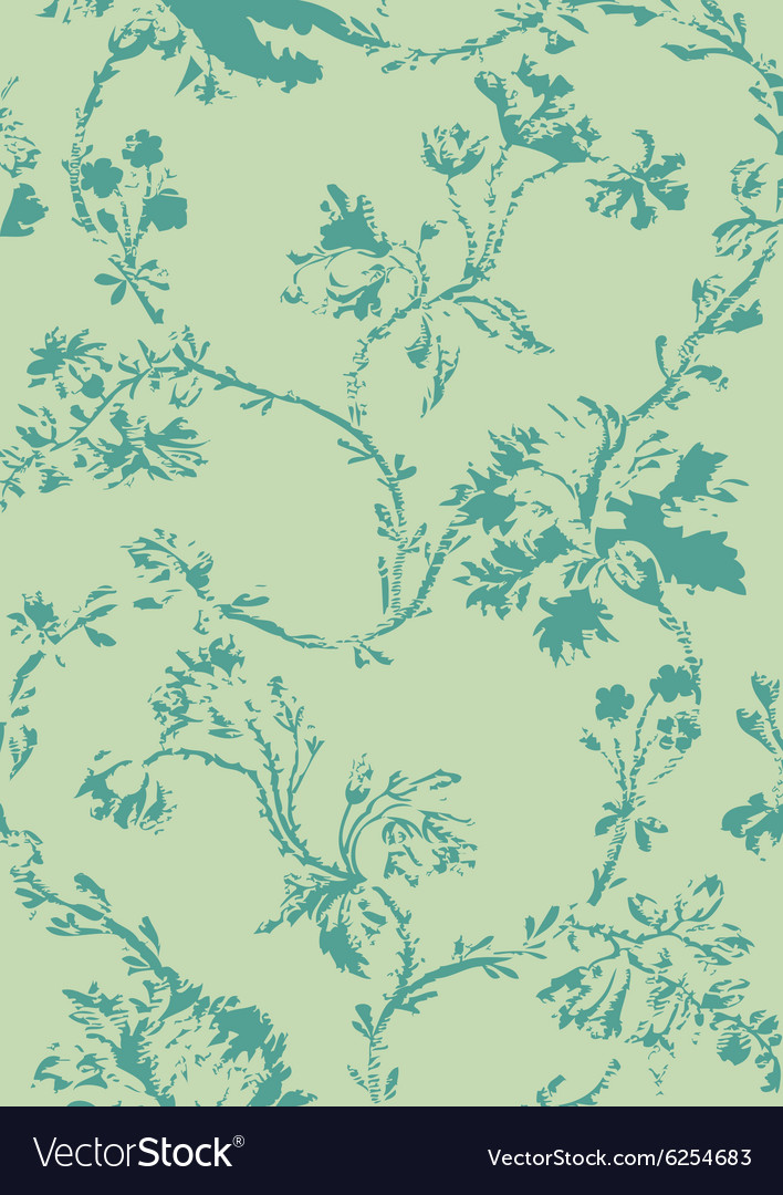 Hand drawn poppies floral seamless background vector image