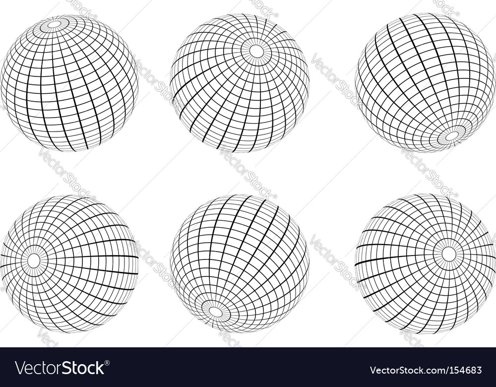 Wire frame vector image