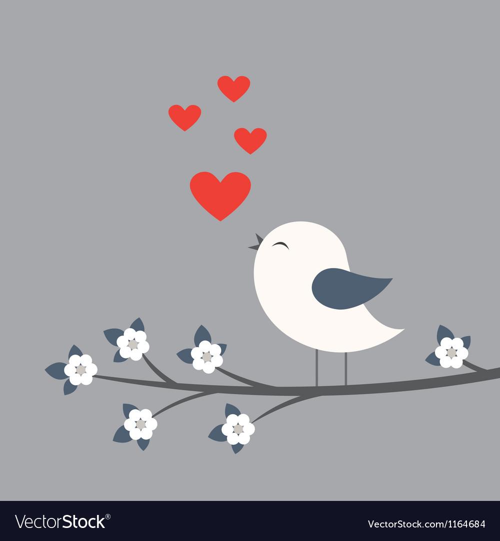 Cute bird vector image