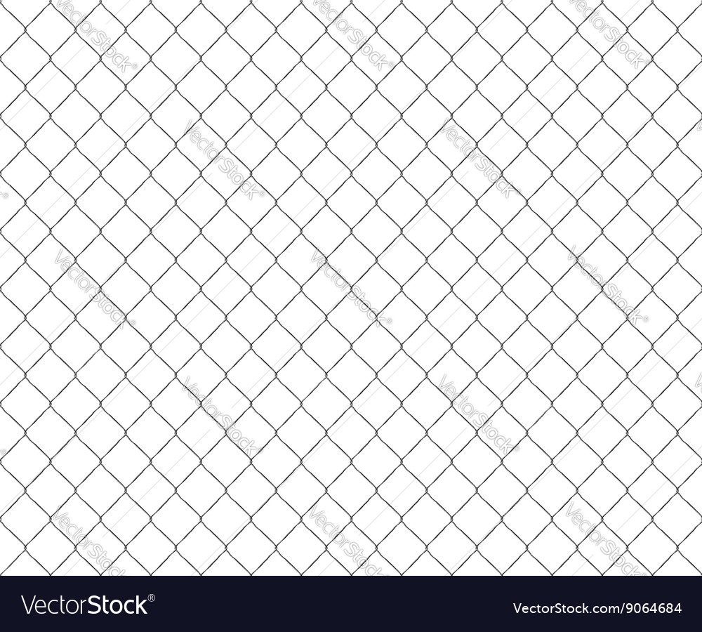 Old metal mesh steel fence seamless vector image