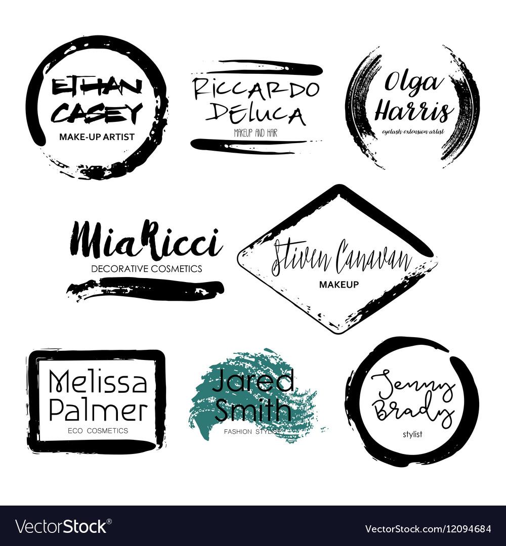Set of Makeup Artist design logo templates vector image