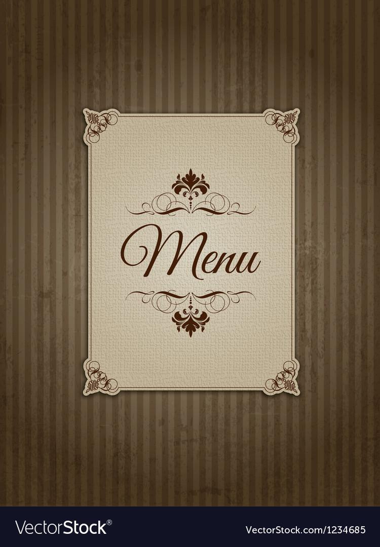 Vintage menu design vector image