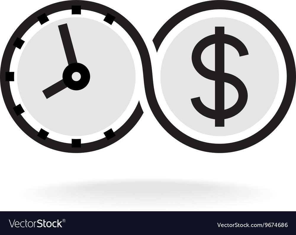 Time is money infinity symbol business logo black vector image biocorpaavc Choice Image