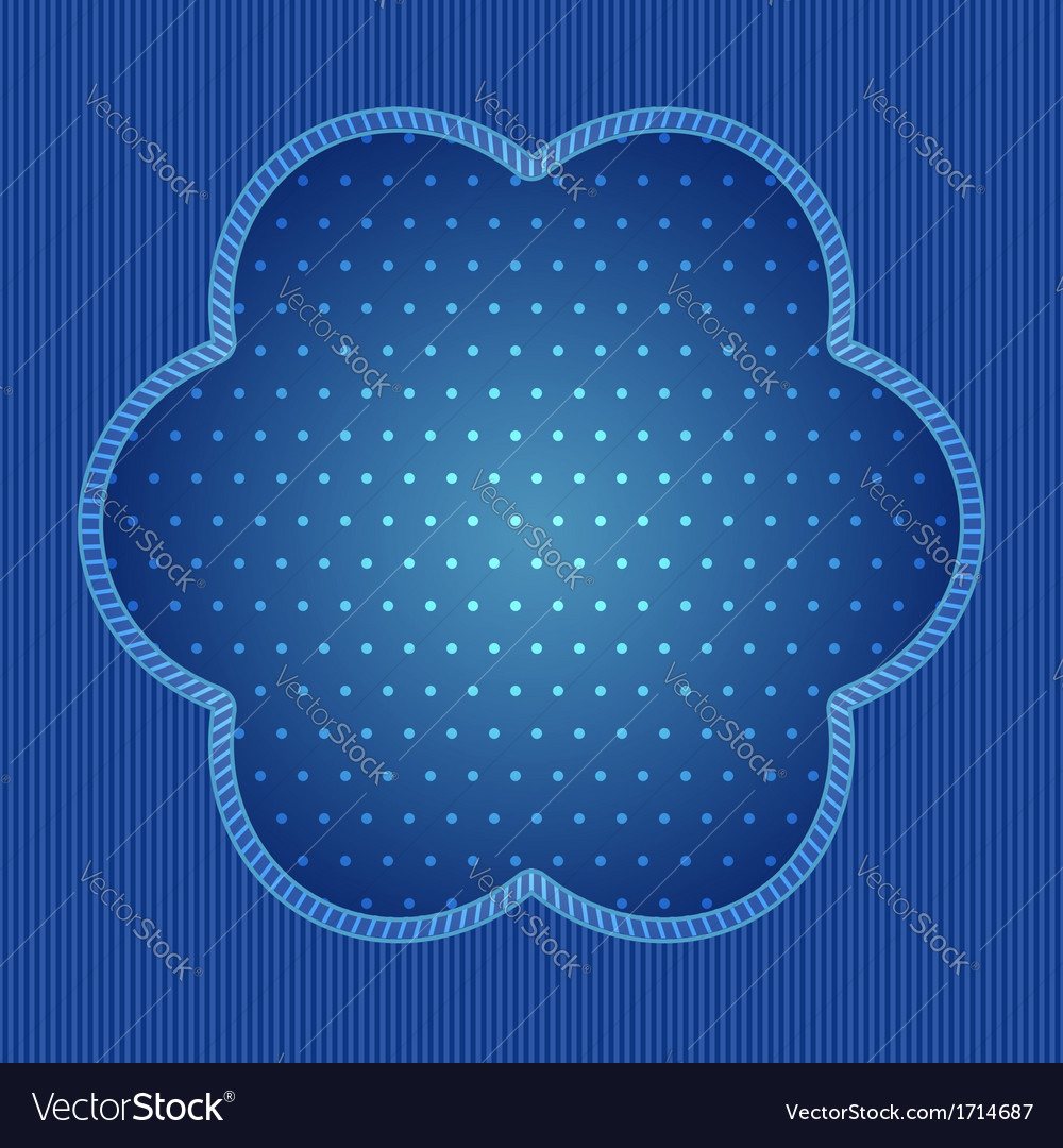 Blue background with stripe and polka dot pattern vector image