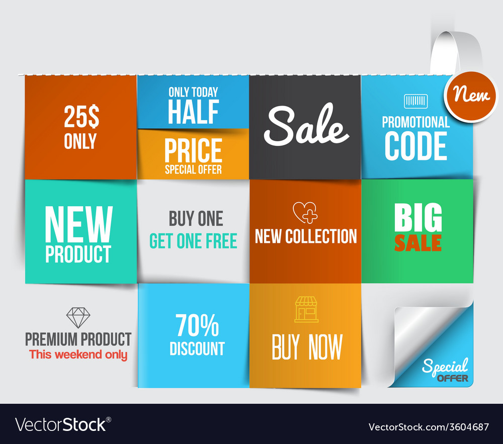 Web banners 9 vector image