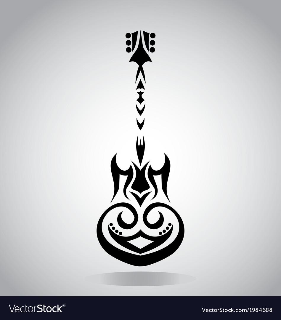 Tribal Guitar vector image