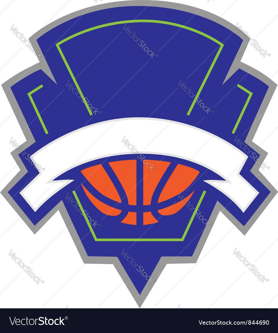 Basketball logo vector image