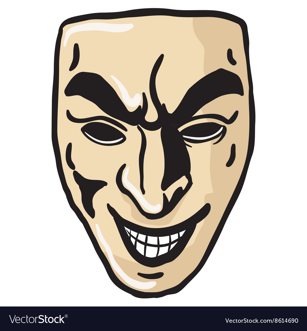 Evil smile mask vector image