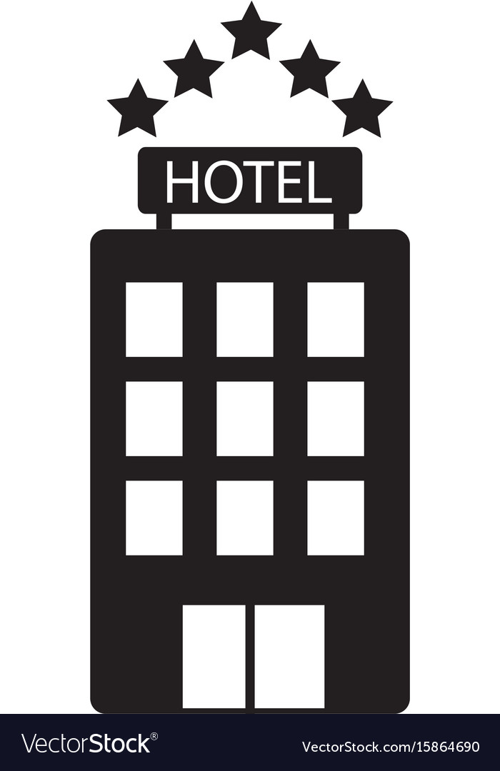Hotel icon on white background hotel sign flat vector image