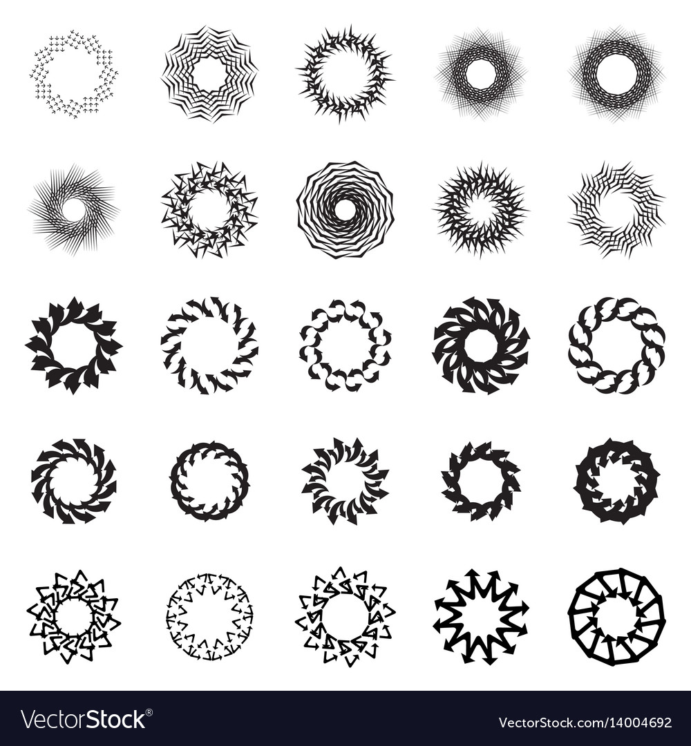 Black circle frame or mandala vector image