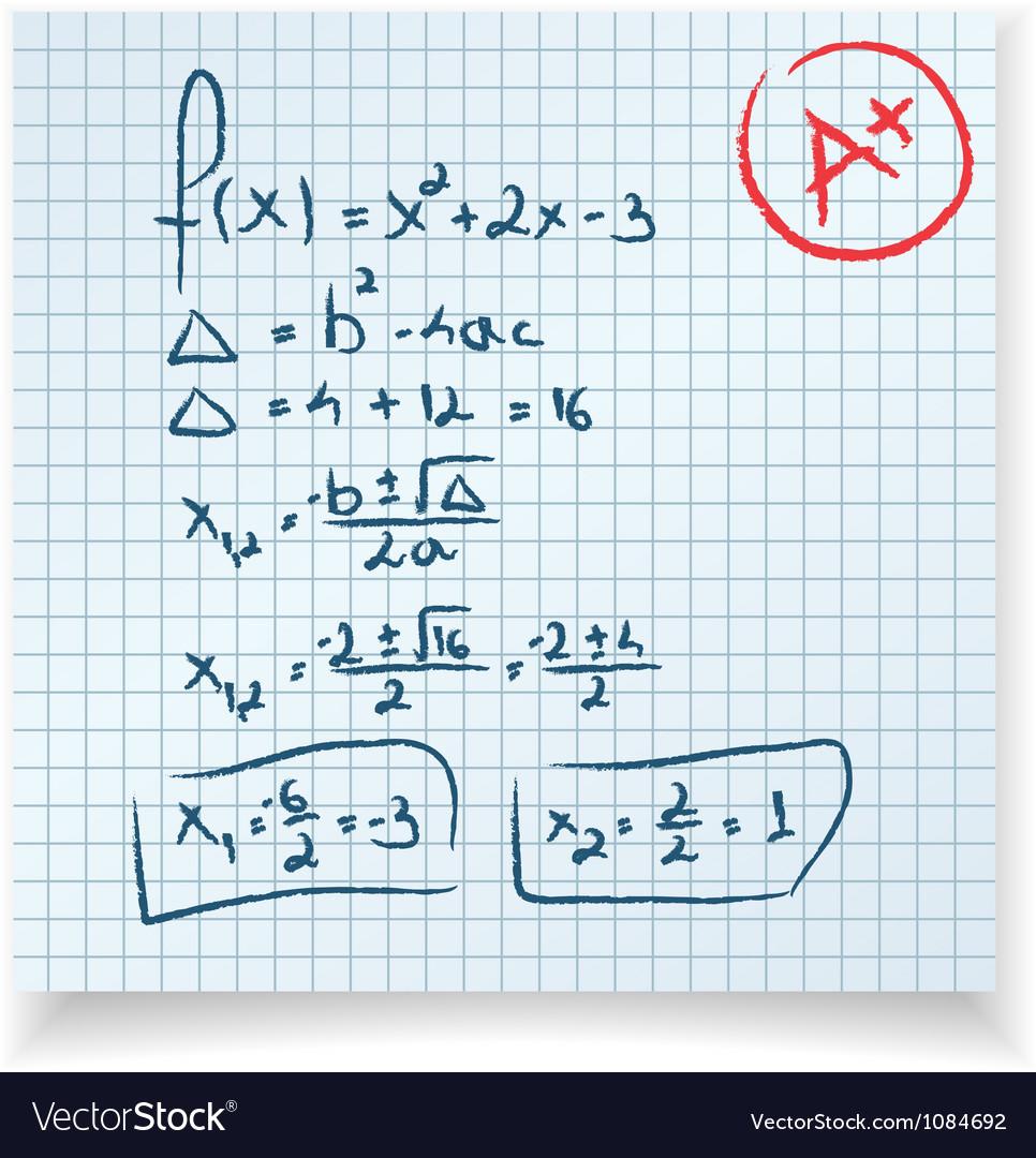 Math test Royalty Free Vector Image - VectorStock