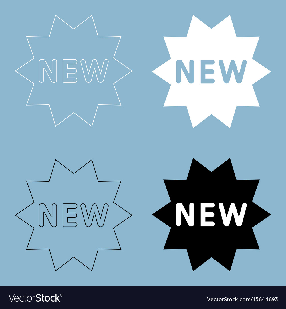New symbol the black and white color icon vector image