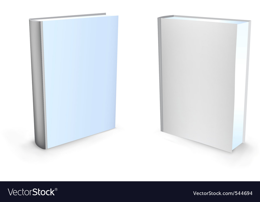 Blank book Vector Image