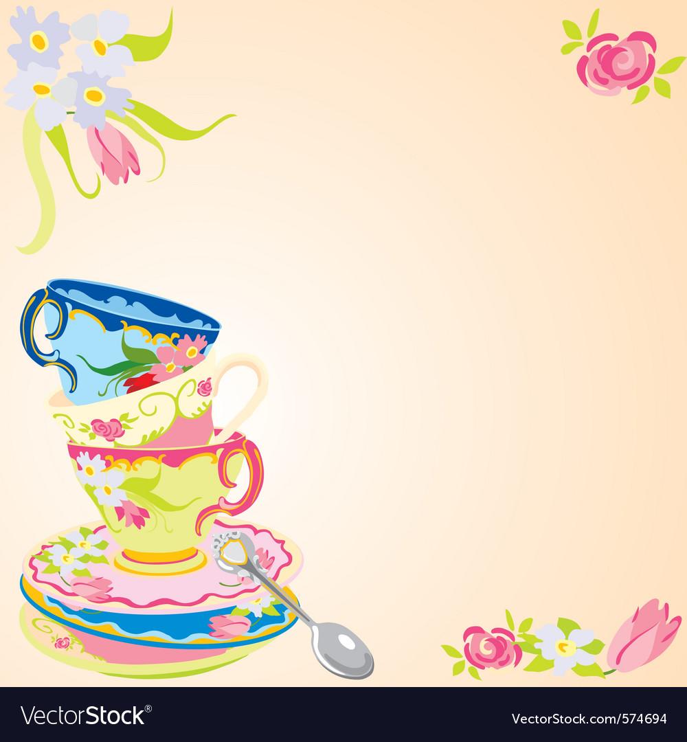 Tea party invitation Royalty Free Vector Image VectorStock – Tea Party Invitation