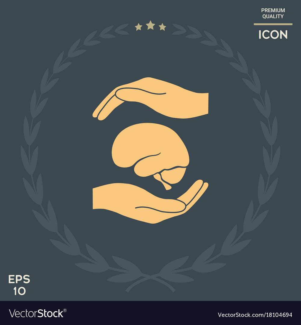 Hands holding brain protection symbol royalty free vector hands holding brain protection symbol vector image biocorpaavc