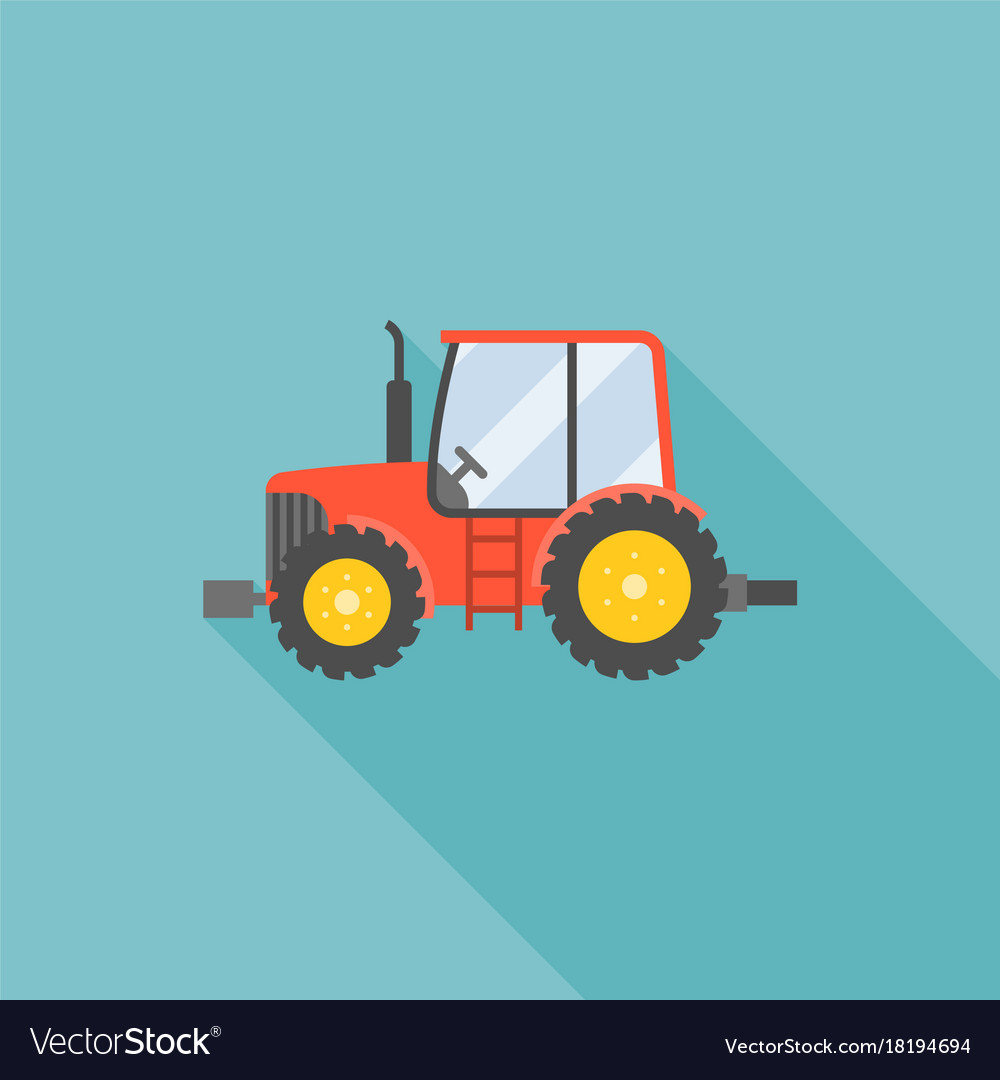 Tractor icon flat design vector image