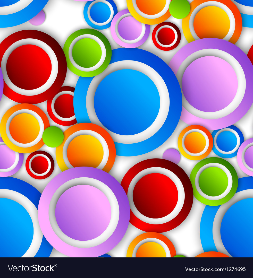 Abstract pattern with colorful circles vector image