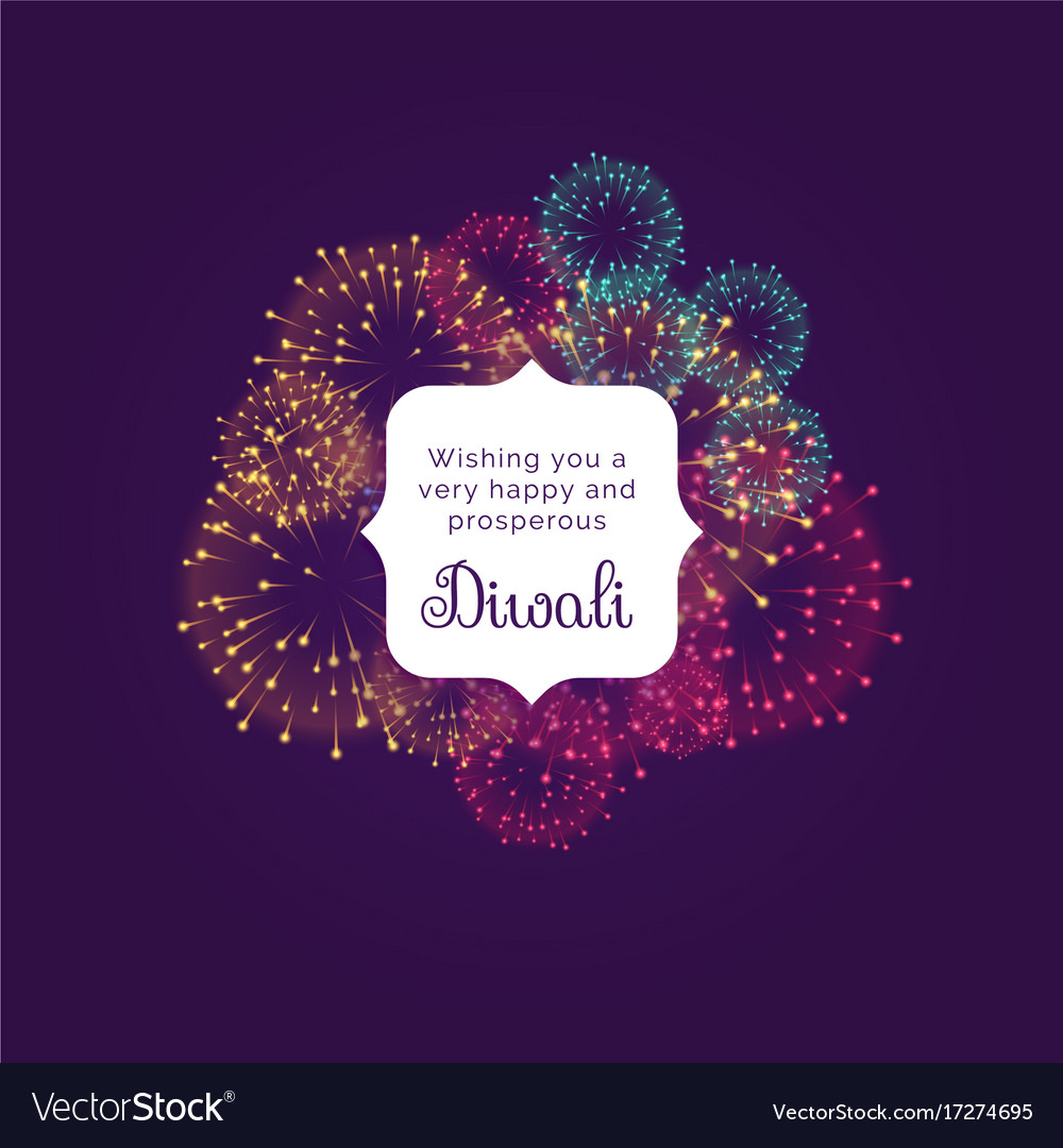 Diwali wishes greeting card design with colorful vector image kristyandbryce Image collections