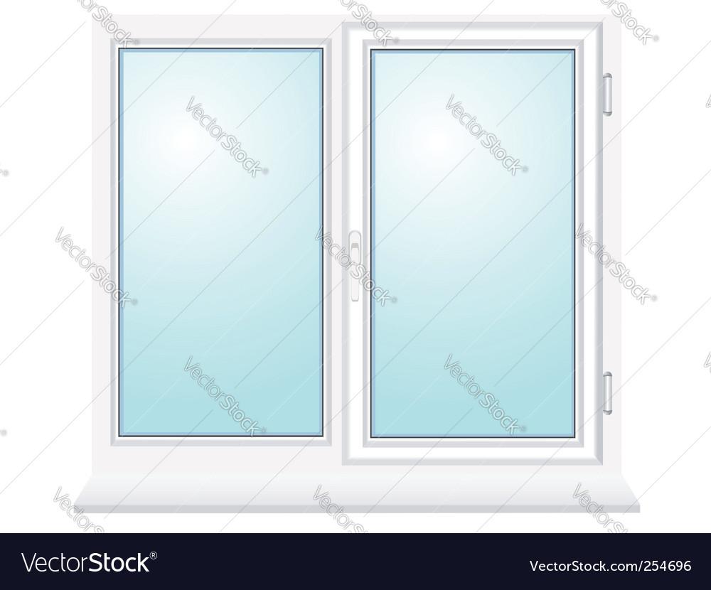 Closed plastic glass window illustration vector image