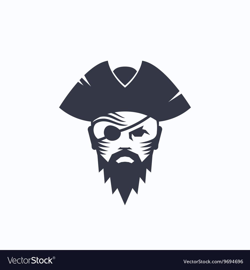 Pirate Head Abstract Logo Template Sailor vector image