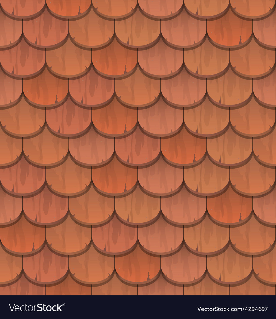 Red Clay Roof Tiles Royalty Free Vector Image Vectorstock