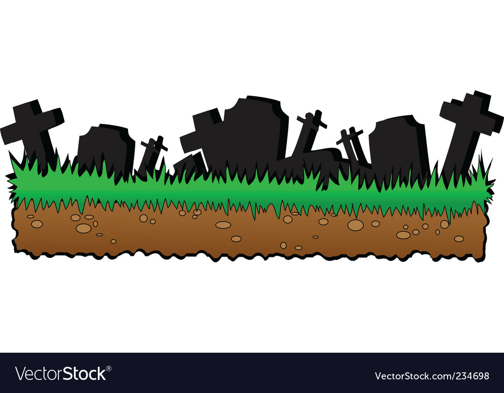 Graveyard cartoon vector image