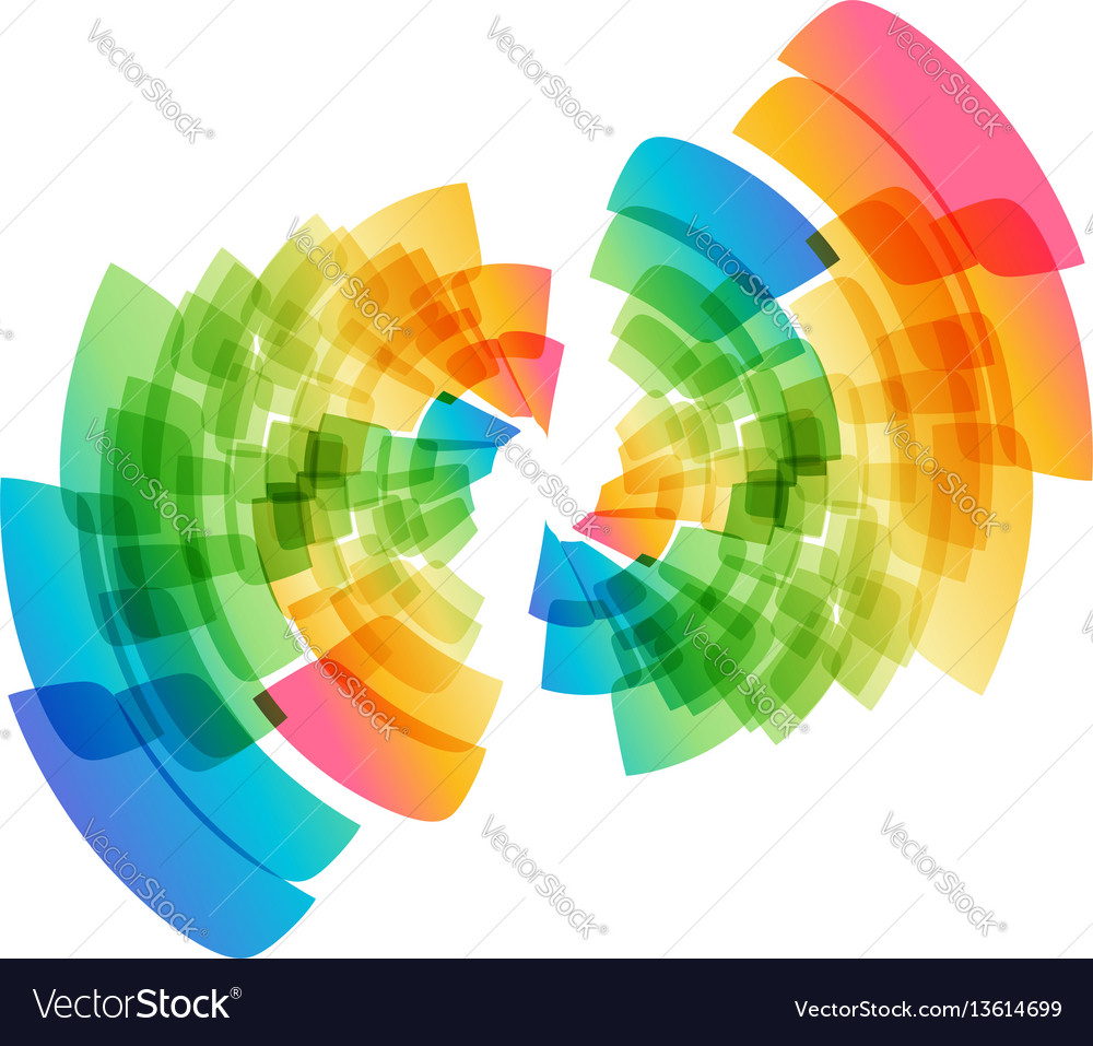 Multicolored abstract geometric circle vector image