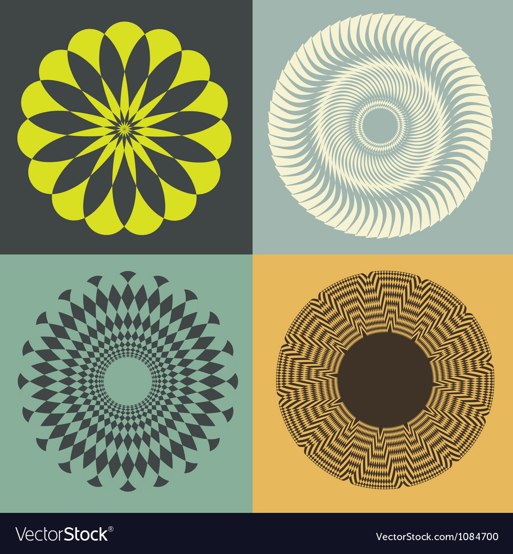 Optical collection print vector image