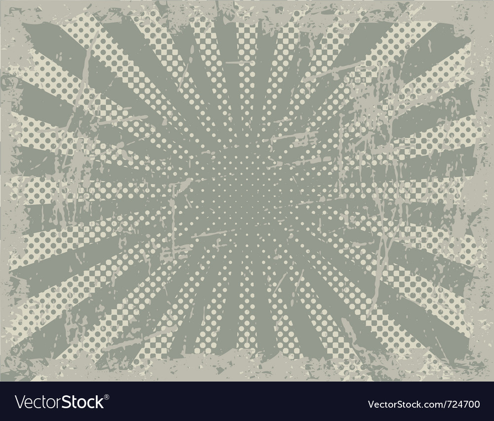 Grunge halftone rays vector image