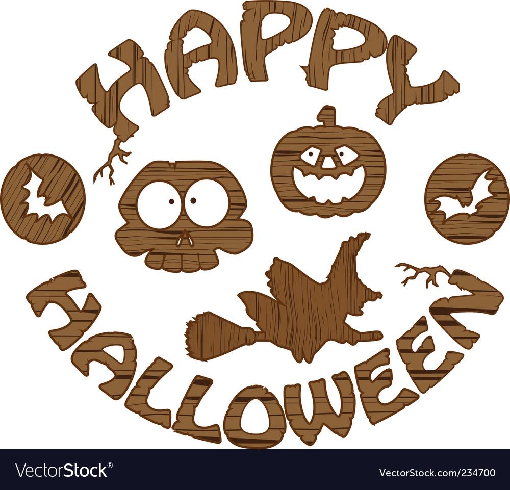 Halloween logo Royalty Free Vector Image - VectorStock