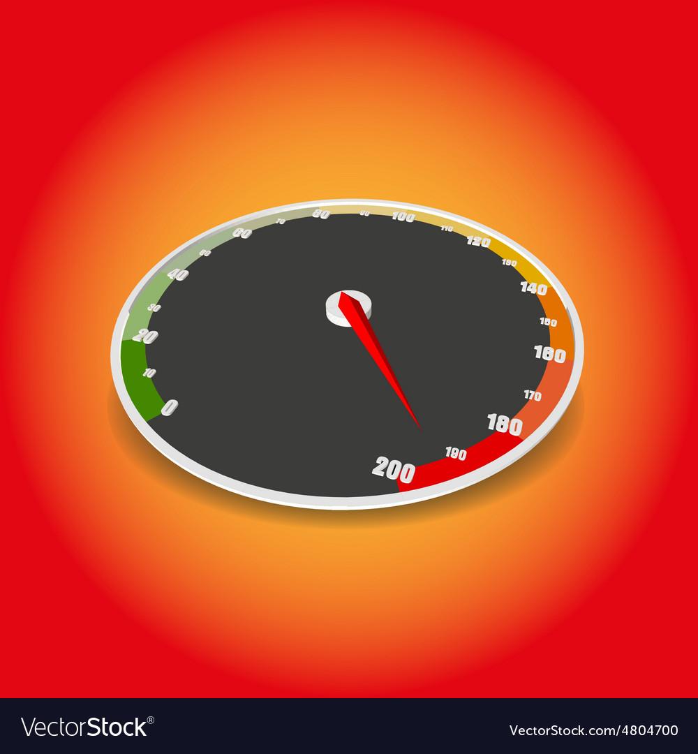 Speedometer icon A Speedometer vector image