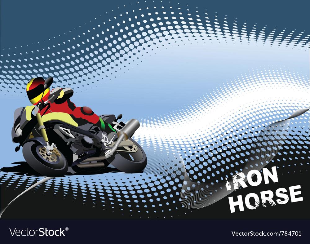Iron horse vector image