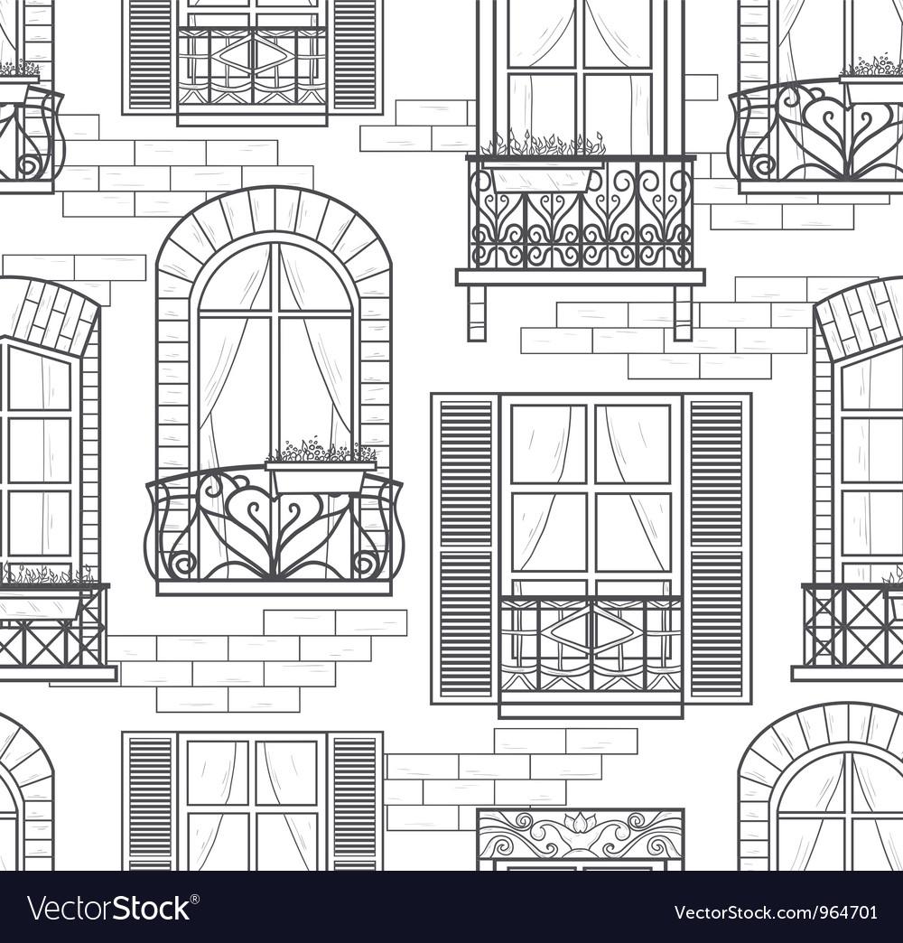 Seamless windows pattern vector image